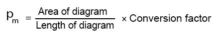 mean effective pressure formula for indicator diagram