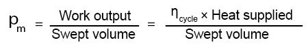 mean effective pressure formula