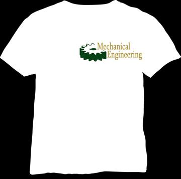 white plain mechanical engineering t-shirt