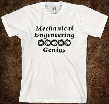 Genius mechanical engineering student shirt