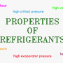 desired properties of a refrigerant