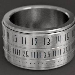 Ring clock jewelry