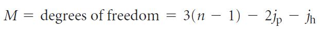 Gruebler's equation formula for calculating degrees of freedom