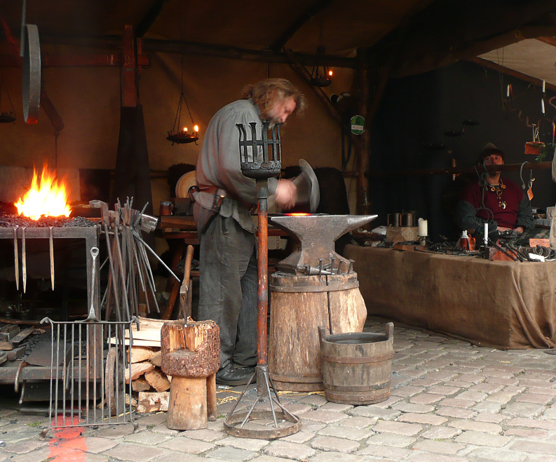 performing forging operation in forging shop