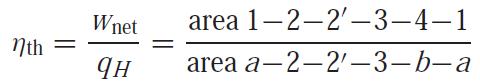 thermal efficiency of Rankine cycle