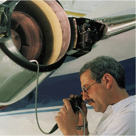 Visual inspection with an articulating fiberscope