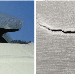Brittle fracture in material