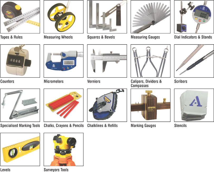 various types of measuring instruments