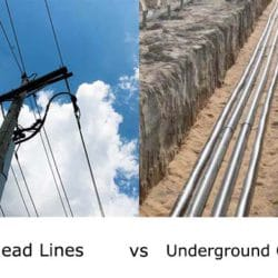 overhead lines and underground cables